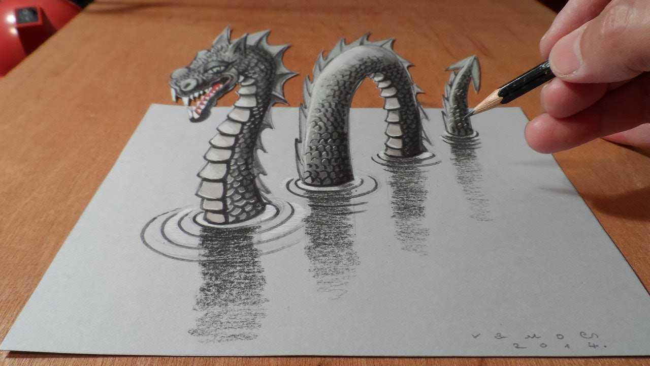 Top 3d pencil drawing screenshot