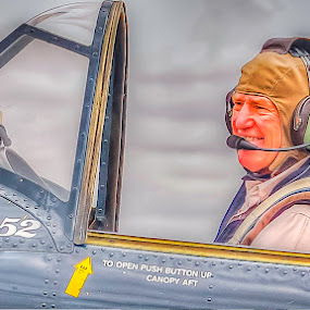 Happy Yak 52 Pilot by Tony Buckley - Transportation Airplanes