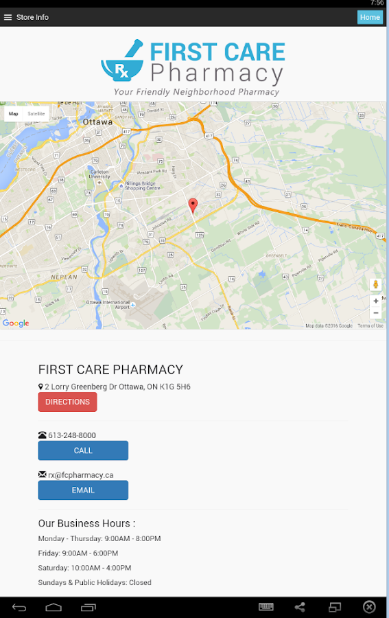 First Care Pharmacy- screenshot