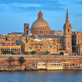 City of Valetta by Madalin V. - Buildings & Architecture Public & Historical ( fortress, city, waterscape, majestic, old town, famous place, arhitecture )