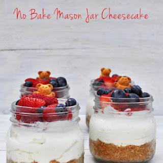 No Bake Mason Jar Cheesecake