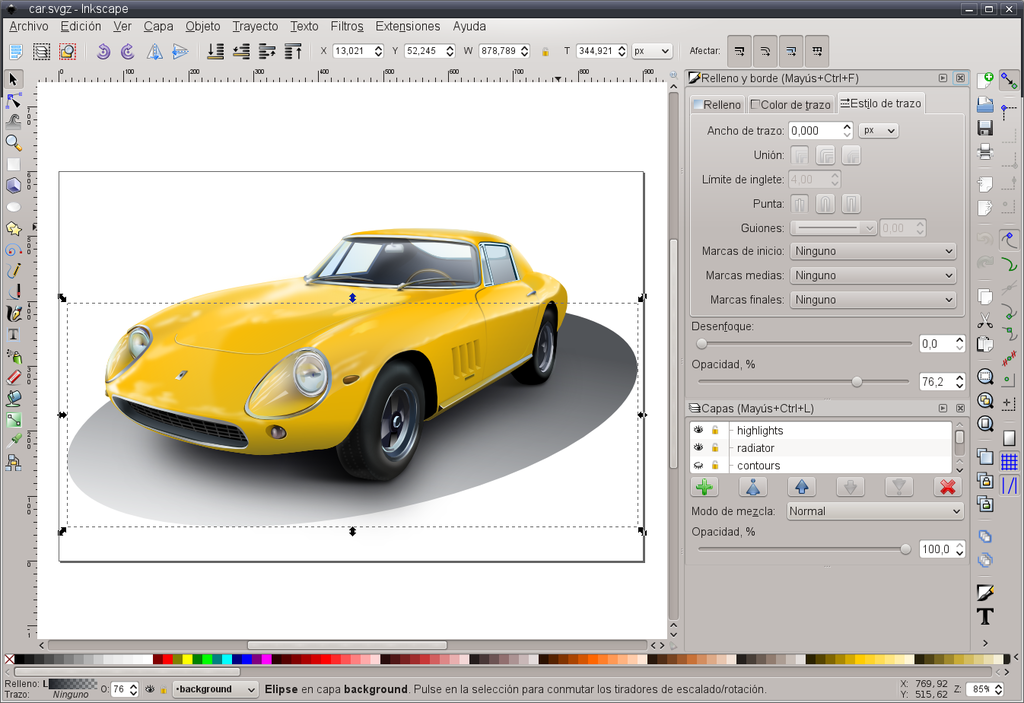 By InkscapeSee AUTHORS file in Inkscape 0.48.1 source code.ScreenshotRamón RetamarCar graphicKonstantin Rotkevich - InkscapeInkscape 0.48.1ScreenshotOwn workCar graphicDistributed with Inkscape source code., GPL, https://commons.wikimedia.org/w/index.php?curid=24373255