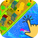 Idle Tycoon. Tsunami. Clicker & automatic & mining icon