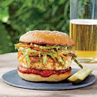 Carolina Chicken Burgers with Ancho Slaw.