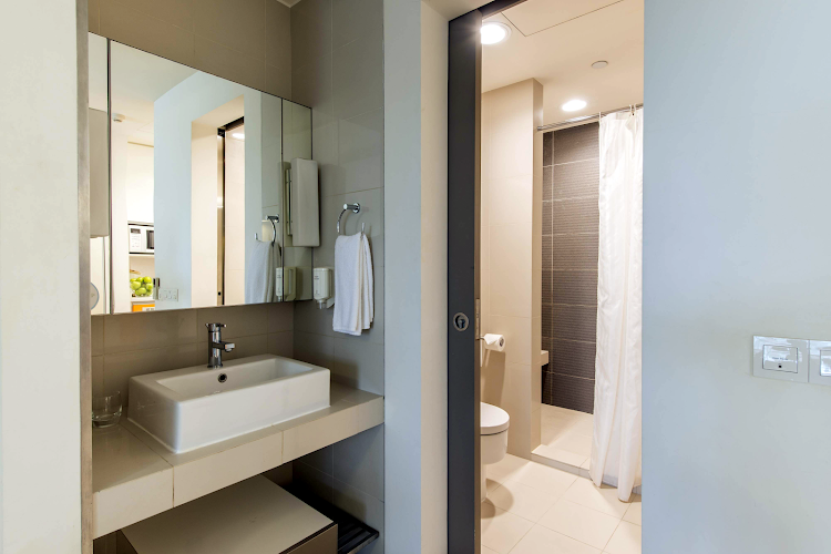 Bathroom at Orchard Road apartment