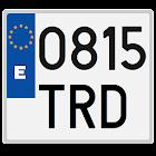 Spanish license plates - date icon
