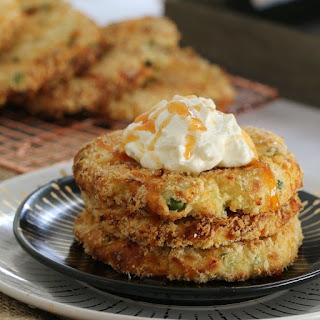 Oven Baked Cheesy Mashed Potato Cakes - Conventional Method Recipe