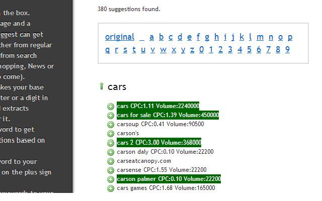 Ubersuggest CPC & Search Volume Enhancer