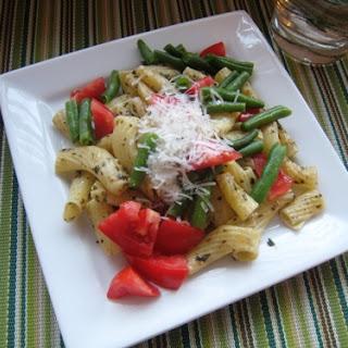 Vegetable Pasta with Pistou.