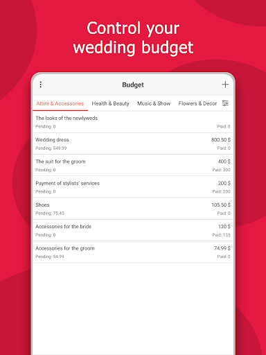 MyWed u2764ufe0f Wedding Planner with Checklist and Budget 2.02.112 Screenshots 11