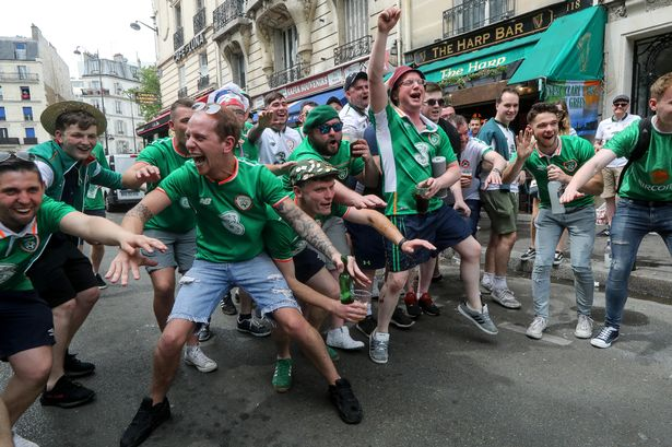 Ireland fans party in the streets of France
