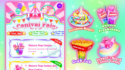 Unicorn Chef Carnival Fair Food: Games for Girls 1.6 screenshots 5