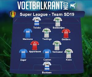 Ons team van speeldag 19 in de Super League ziet er als volgt uit