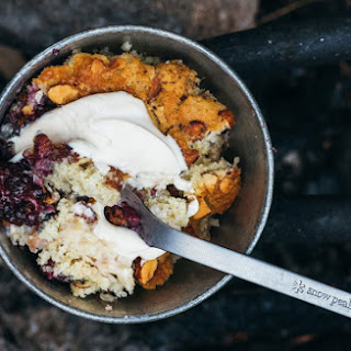 Peach-Blackberry Camp Cake