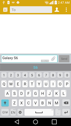 GS6 Theme for LG Keyboard
