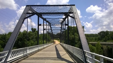 Photo: Brazos River bridge near Sugarloaf Mountain
