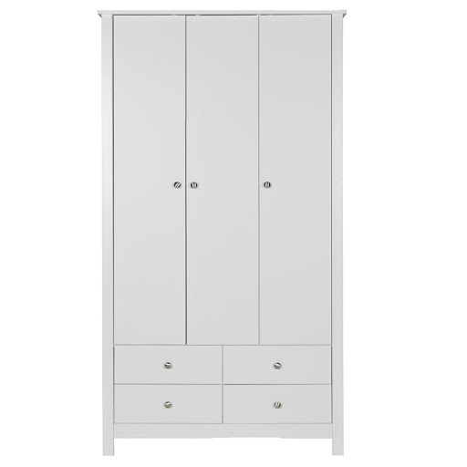 Florence White 3 Door 4 Drawer Robe