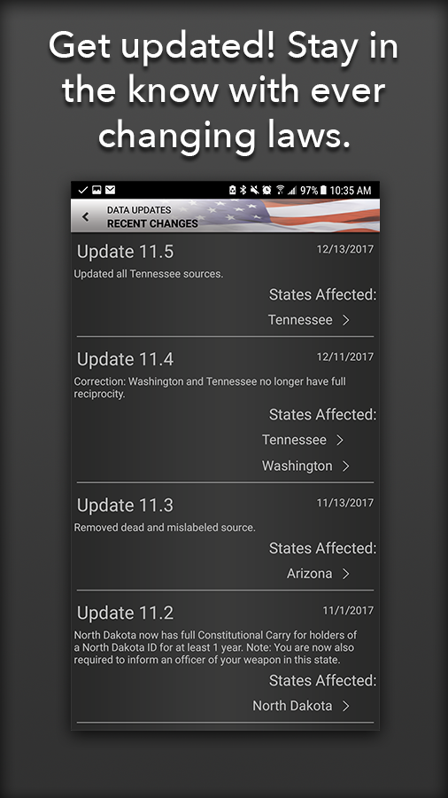 Concealed Carry App - CCW Laws- screenshot