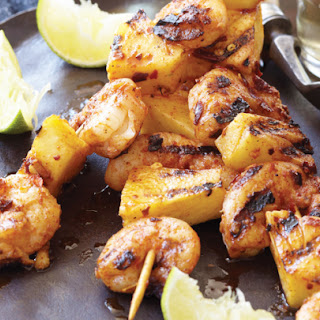 Grilled Spicy Shrimp and Pineapple Skewers Recipe