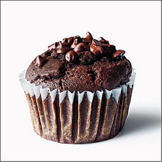 Chocolate-Chocolate Chip Muffins Recipe