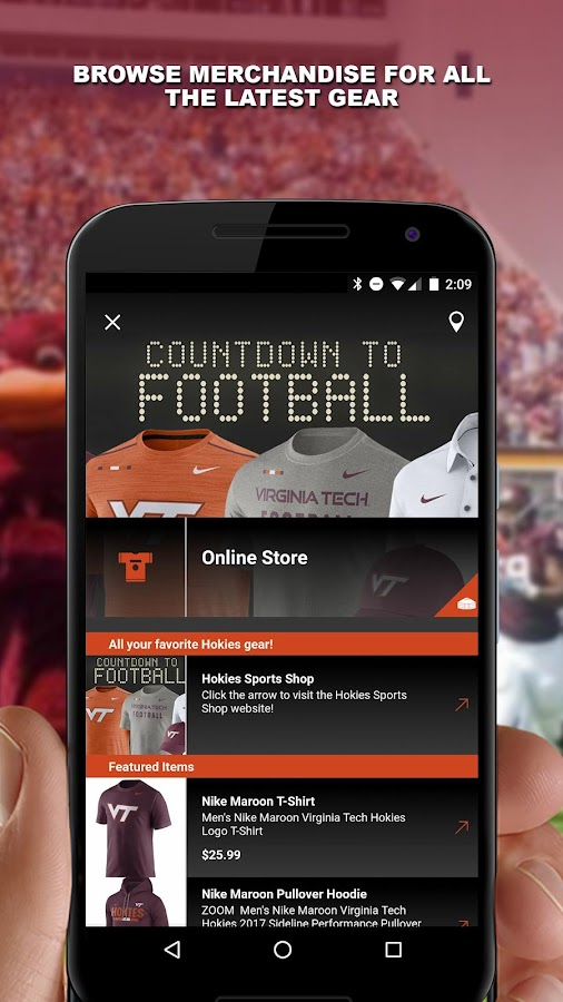Virginia Tech HokieSports- screenshot