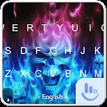 Hell Skull Fire Keyboard Theme
