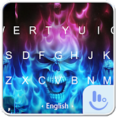 Hell Skull Fire Ice Keyboard Theme