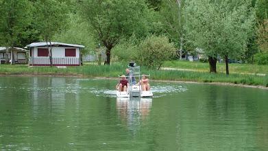 Photo: erste Probefahrt der Seekuh auf dem Lido Badesee