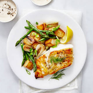 Baked Cod and Veggies.