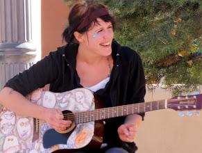 Photo: Troubador, Taos Plaza