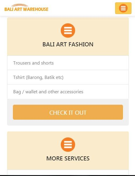 Online Shope Bali Art Warehouse- screenshot