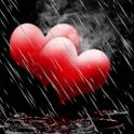Rain On Red Hearts Live Wallpa icon