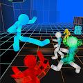 Stickman Neon Warriors: Street Fighting