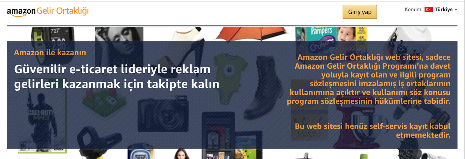 Image of website explaining the website does not yet accept self-service registration
