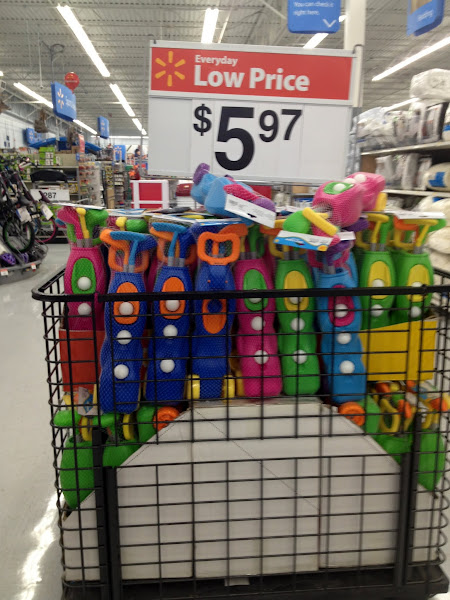 Photo: We were looking for some outdoor items for the kids too and noticed this display of golf sets.  We bought one.