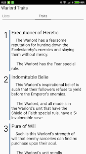 Rules40k - Warhammer 40k guide app (7th edition)- screenshot thumbnail