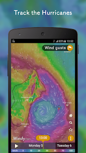 Windy: wind, waves and hurricanes forecast – Vignette de la capture d'écran