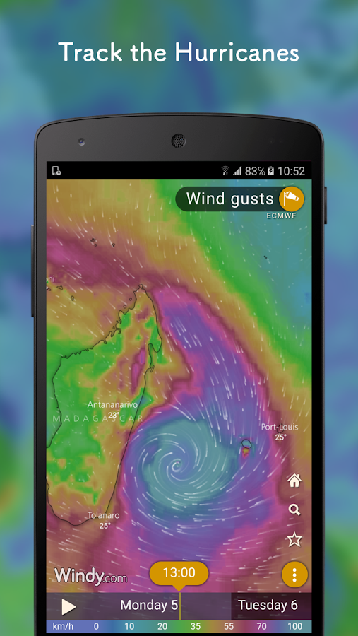 Windy: wind, waves and hurricanes forecast – Capture d'écran