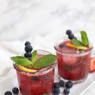 Honey Sweetened Berry Lemonade