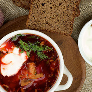 Navy recipe of Ukrainian borsch