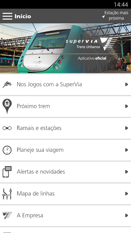 SuperVia: captura de tela