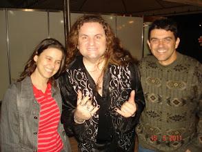 Photo: Eu e Cilene com o cantor e instrumentista RUSSO.