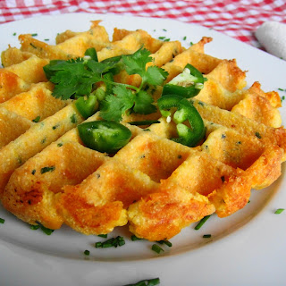 Jalapeno Cheddar Cornbread Waffles (Gluten-Free)