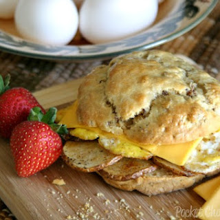 Fried Egg Sandwiches with Maple Sausage Biscuits.