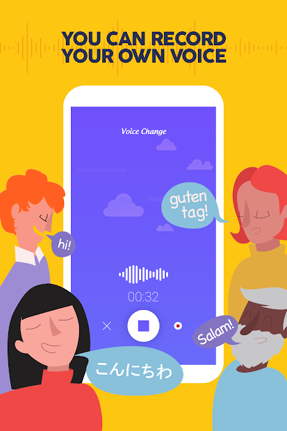 Voice Changer - Funny sound effects Android App Screenshot