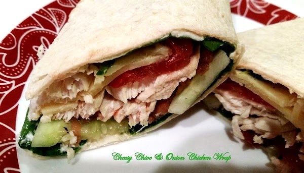 ~ Chive & Onion Chicken Wrap ~ Cass's Recipe