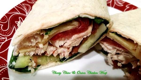 ~ Chive & Onion Chicken Wrap ~ Cass's