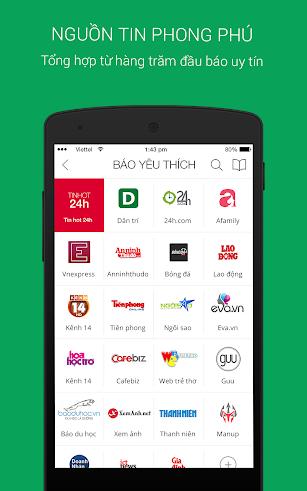 Tin moi 24h - Doc bao, tin tuc screenshot for Android