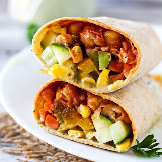 Vegan BBQ Chickpea Wrap.