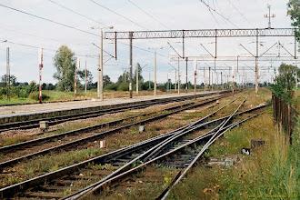 Photo: Peron i część układu torowego {Papowo Toruńskie; 2003-09-04}